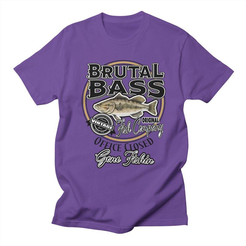 Brutal Bass Fish Co Men's Regular T-Shirt by psweetsdesign's Artist Shop