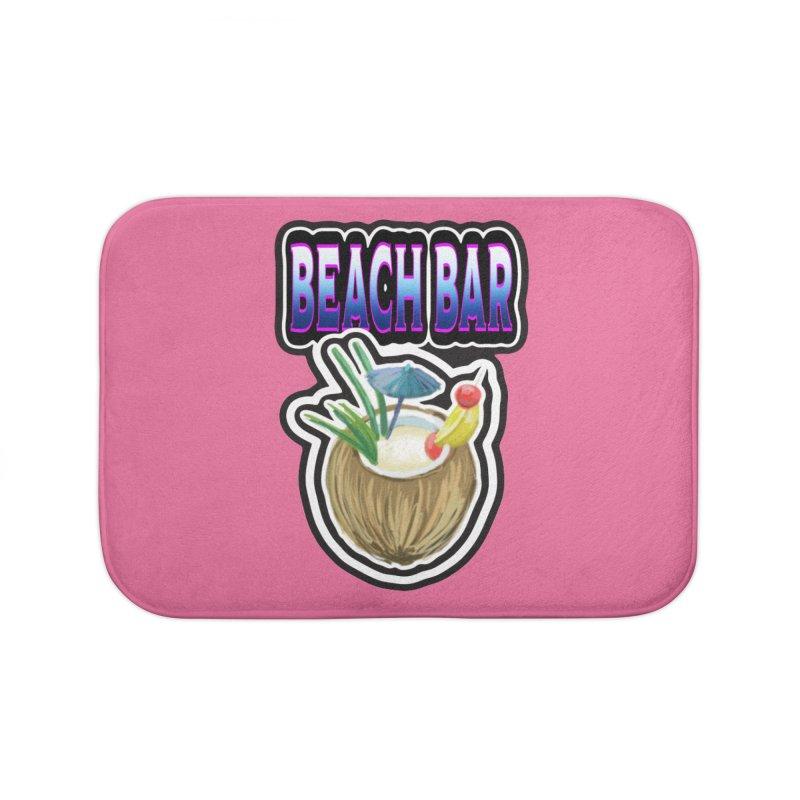 Beach Bar Home Bath Mat by psweetsdesign's Artist Shop