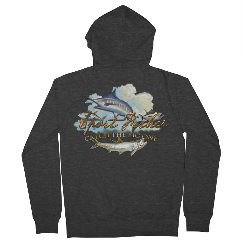 Catch The Big One Women's Zip-Up Hoody by psweetsdesign's Artist Shop