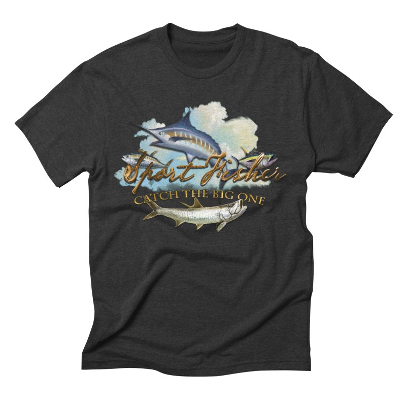 Catch The Big One Men's Triblend T-shirt by psweetsdesign's Artist Shop