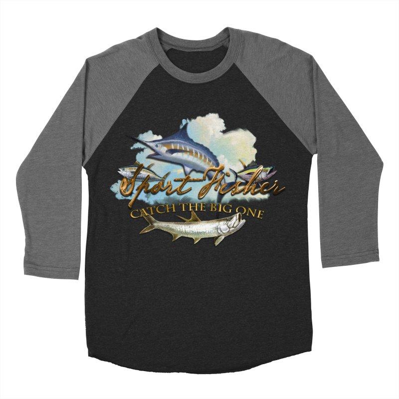 Catch The Big One Women's Baseball Triblend T-Shirt by psweetsdesign's Artist Shop