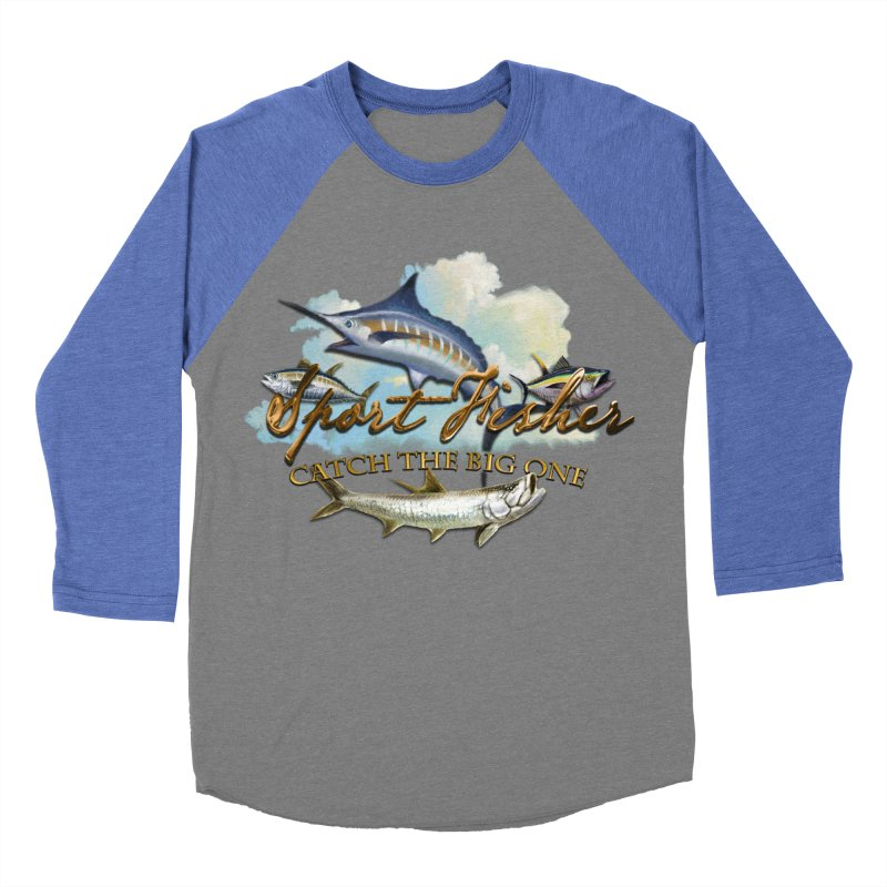 Catch The Big One Men's Baseball Triblend T-Shirt by psweetsdesign's Artist Shop