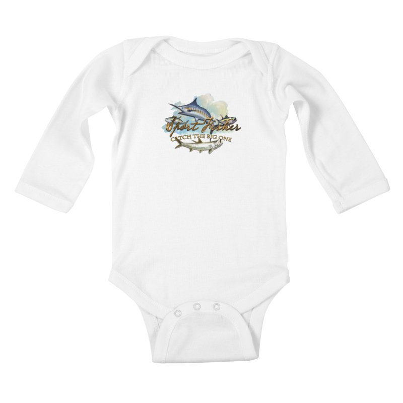 Catch The Big One Kids Baby Longsleeve Bodysuit by psweetsdesign's Artist Shop