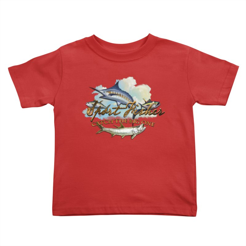 Catch The Big One Kids Toddler T-Shirt by psweetsdesign's Artist Shop
