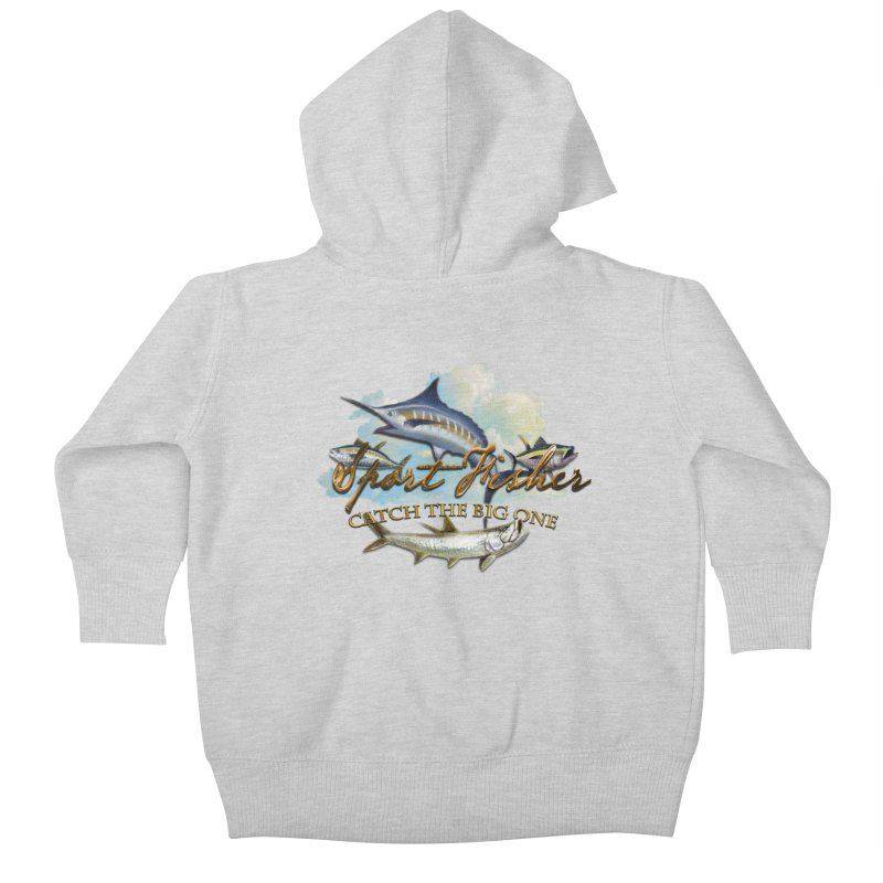 Catch The Big One Kids Baby Zip-Up Hoody by psweetsdesign's Artist Shop