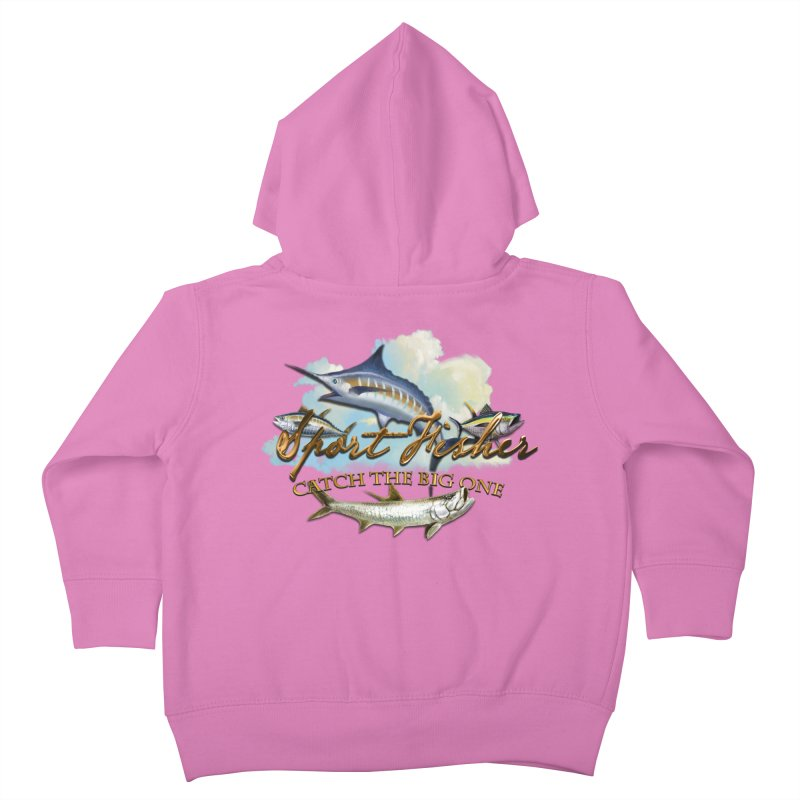 Catch The Big One Kids Toddler Zip-Up Hoody by psweetsdesign's Artist Shop