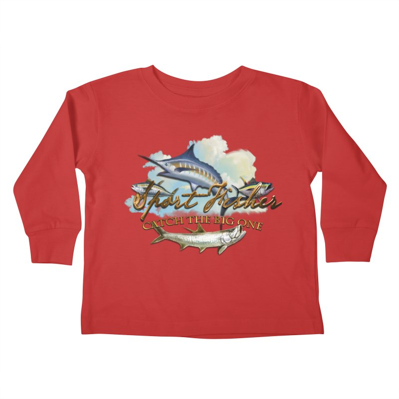 Catch The Big One Kids Toddler Longsleeve T-Shirt by psweetsdesign's Artist Shop