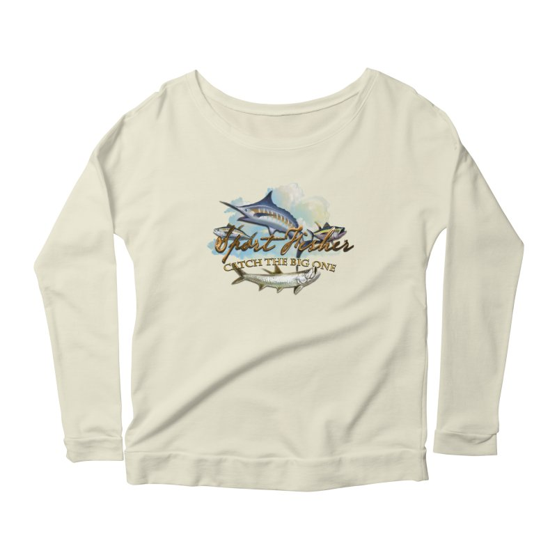 Catch The Big One Women's Longsleeve Scoopneck  by psweetsdesign's Artist Shop