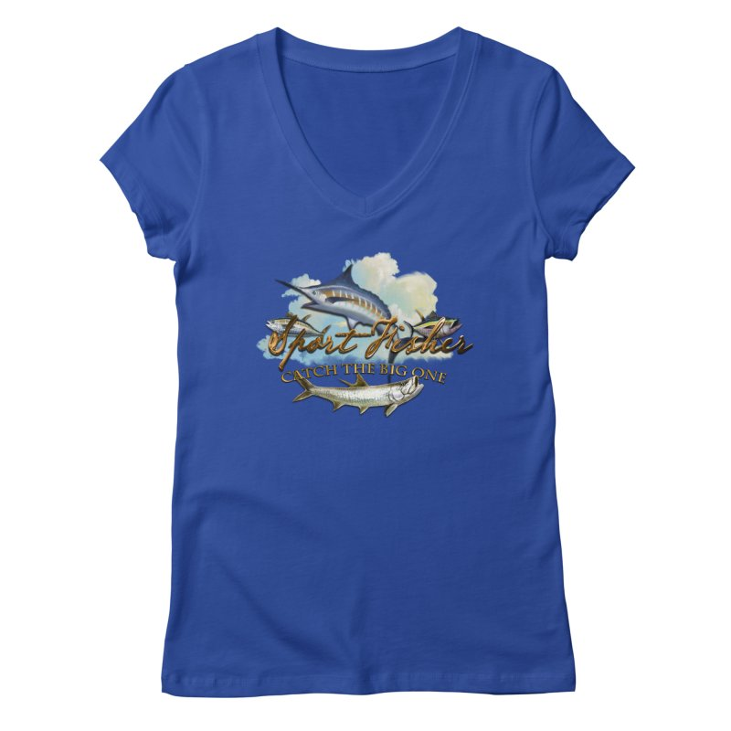 Catch The Big One Women's V-Neck by psweetsdesign's Artist Shop