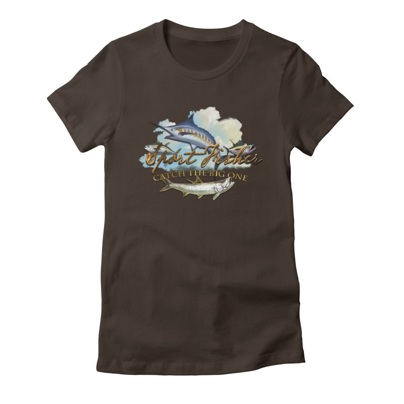 Catch The Big One Women's Fitted T-Shirt by psweetsdesign's Artist Shop