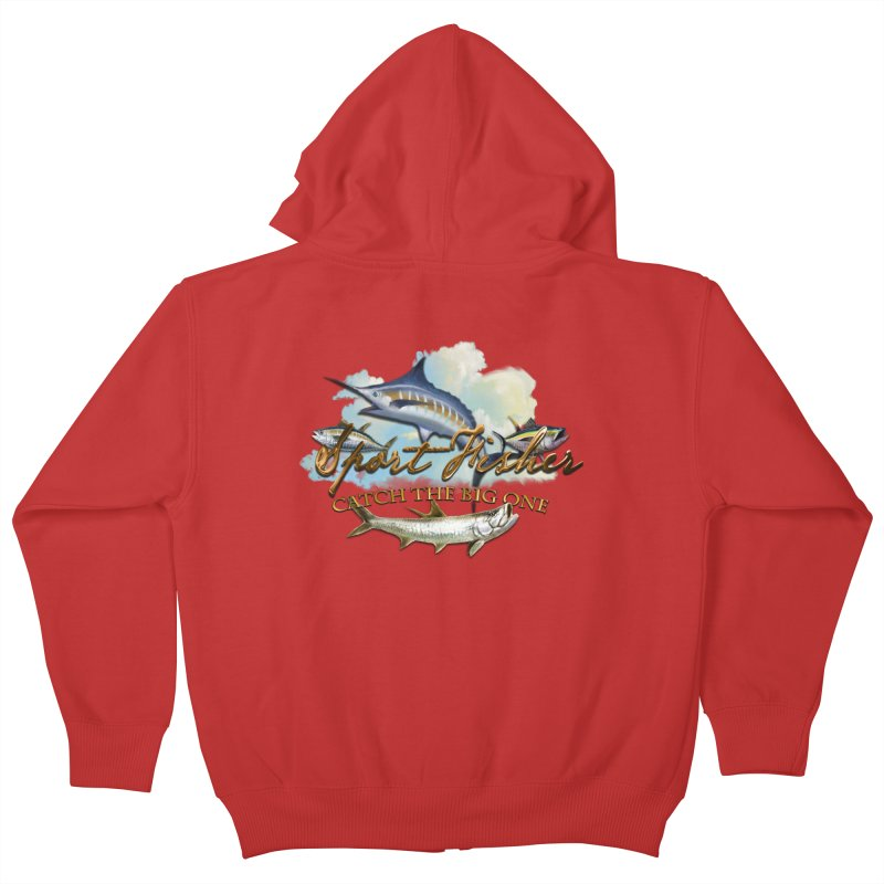 Catch The Big One Kids Zip-Up Hoody by psweetsdesign's Artist Shop