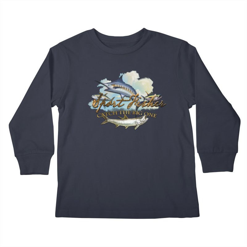 Catch The Big One Kids Longsleeve T-Shirt by psweetsdesign's Artist Shop