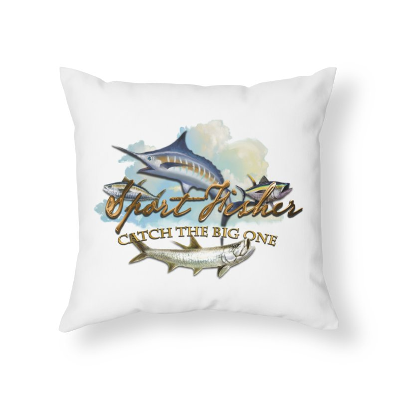 Catch The Big One Home Throw Pillow by psweetsdesign's Artist Shop