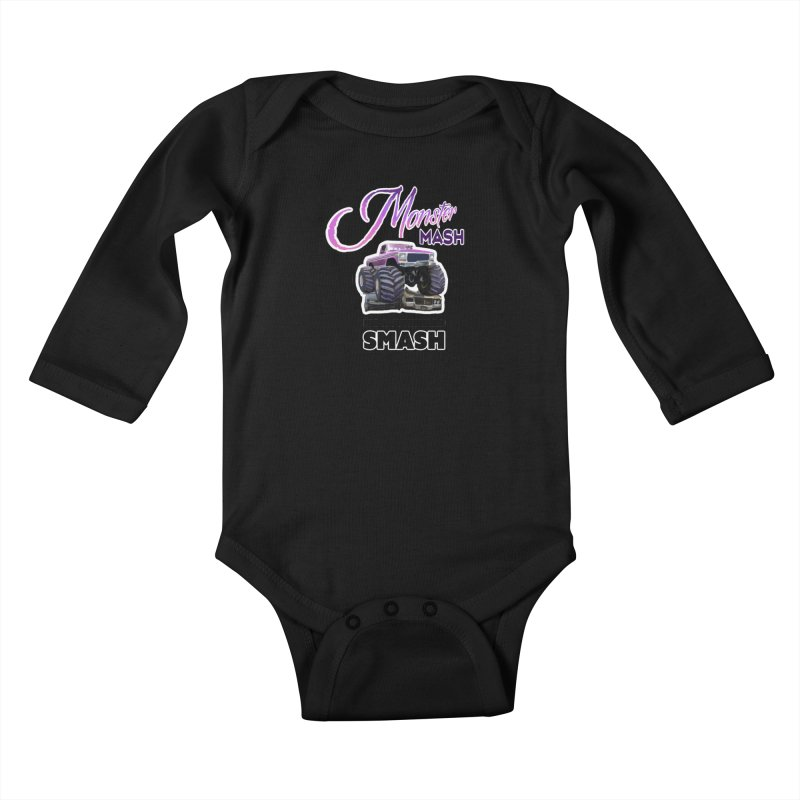 Monster Mash Kids Baby Longsleeve Bodysuit by psweetsdesign's Artist Shop