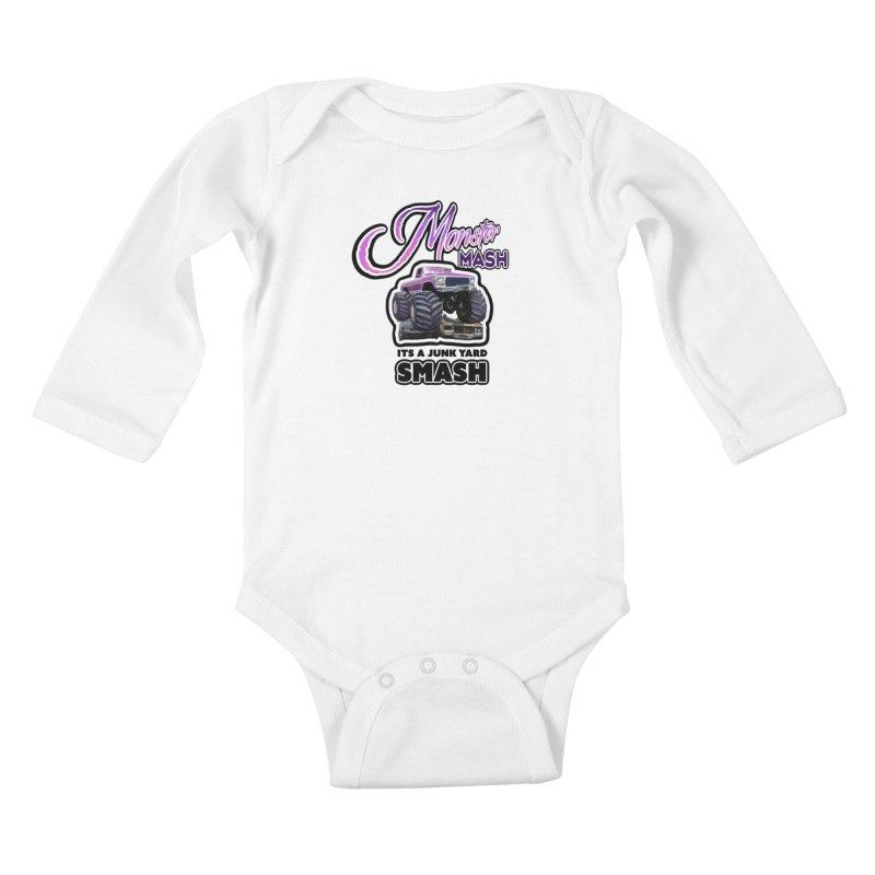 Monster Mash Kids Baby Longsleeve Bodysuit by psweetsdesign's Artist Shop