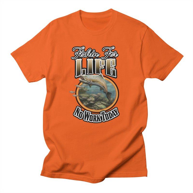 Fishin for Life Men's Regular T-Shirt by psweetsdesign's Artist Shop