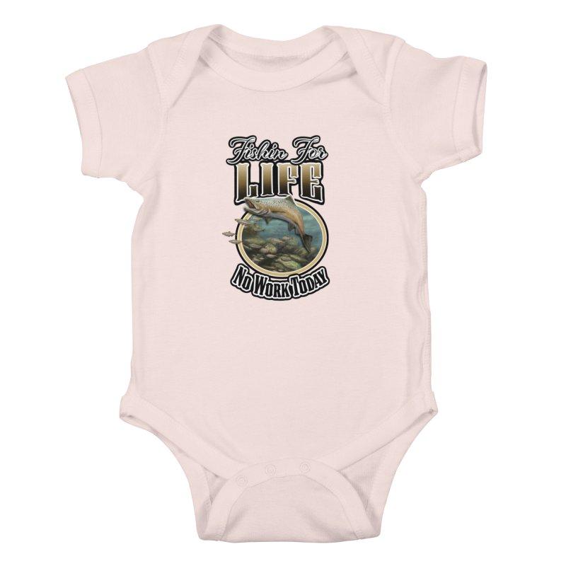 Fishin for Life Kids Baby Bodysuit by psweetsdesign's Artist Shop