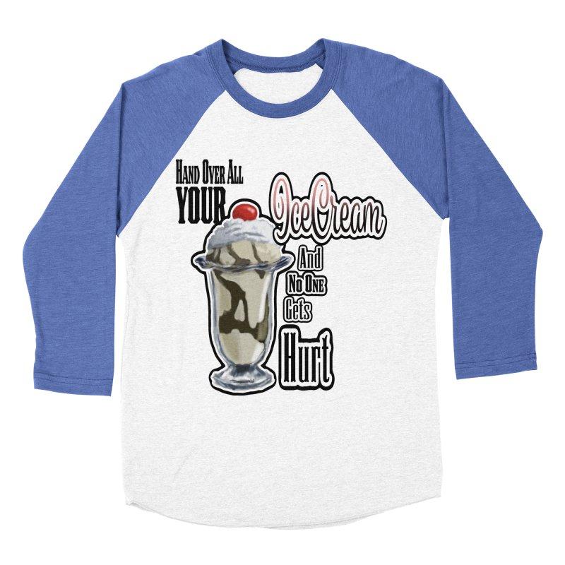 Ice Cream Men's Baseball Triblend T-Shirt by psweetsdesign's Artist Shop