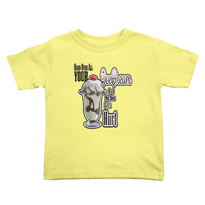 Ice Cream Kids Toddler T-Shirt by psweetsdesign's Artist Shop