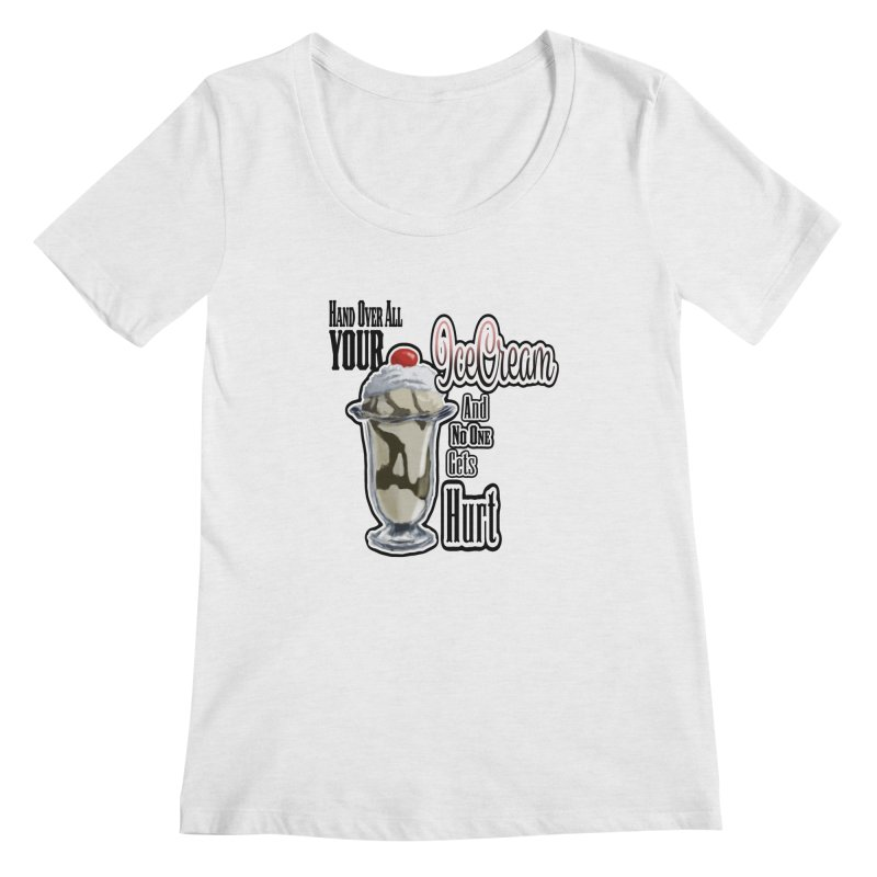 Ice Cream Women's Regular Scoop Neck by psweetsdesign's Artist Shop