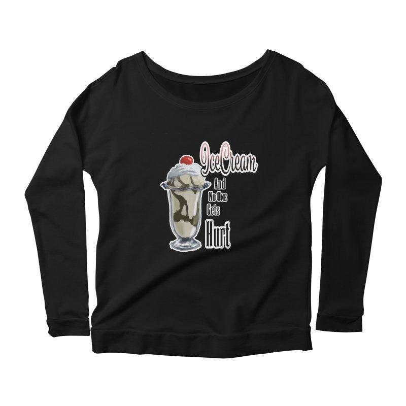 Ice Cream Women's Scoop Neck Longsleeve T-Shirt by psweetsdesign's Artist Shop