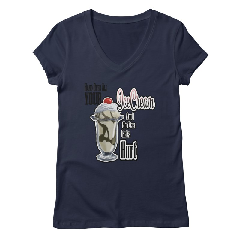 Ice Cream Women's V-Neck by psweetsdesign's Artist Shop