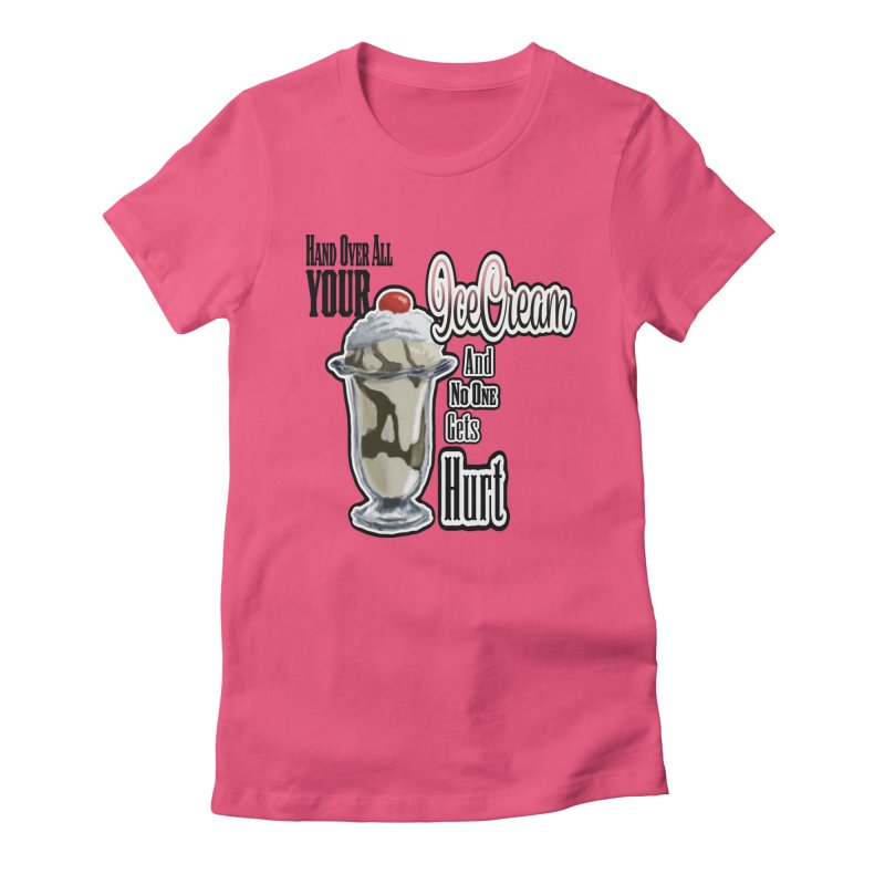 Ice Cream Women's Fitted T-Shirt by psweetsdesign's Artist Shop