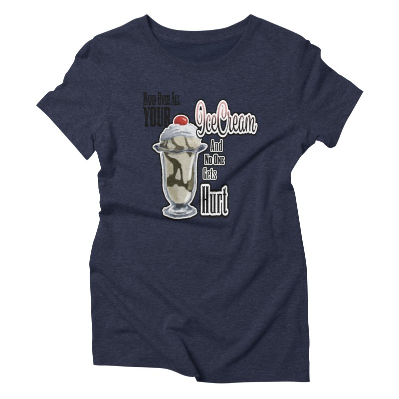 Ice Cream Women's Triblend T-Shirt by psweetsdesign's Artist Shop