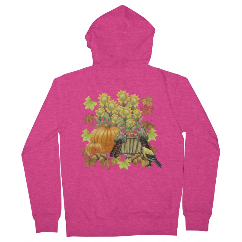 Harvest Women's French Terry Zip-Up Hoody by psweetsdesign's Artist Shop