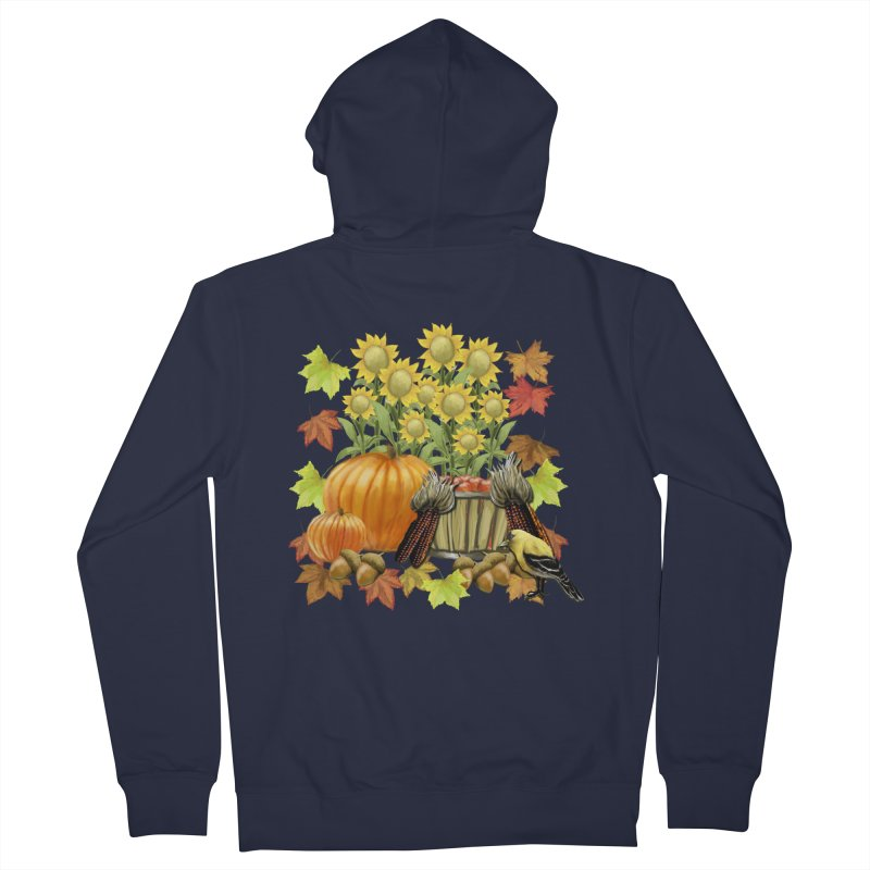 Harvest Men's French Terry Zip-Up Hoody by psweetsdesign's Artist Shop