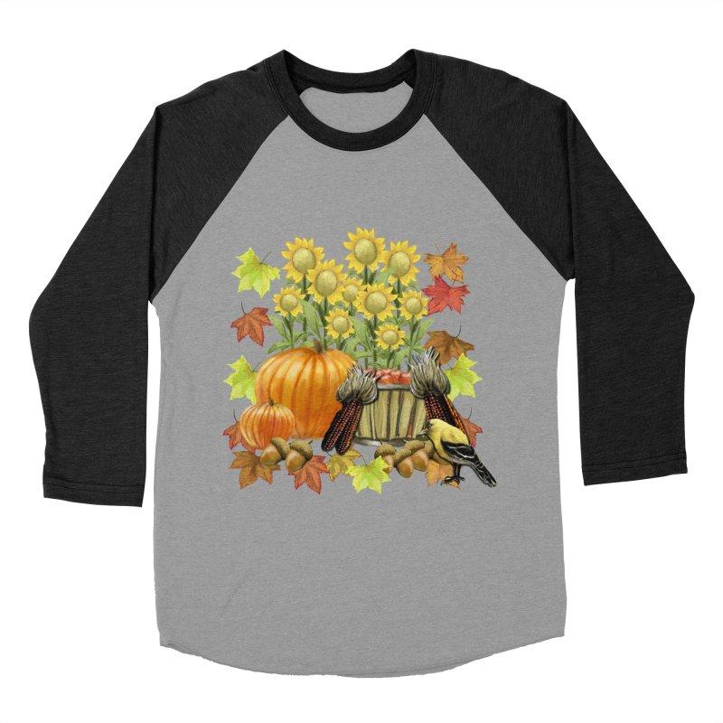 Harvest Women's Baseball Triblend T-Shirt by psweetsdesign's Artist Shop