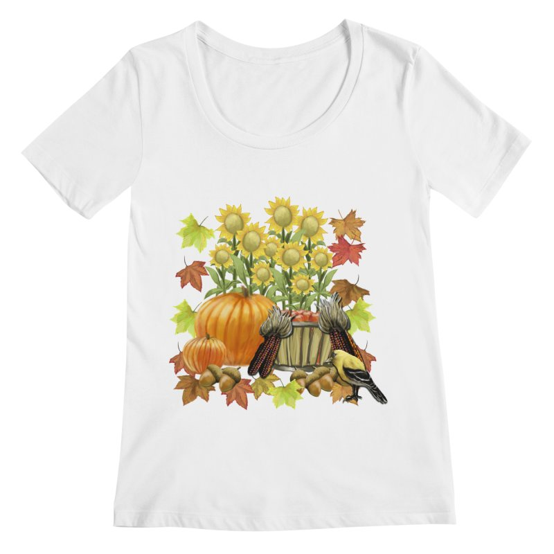 Harvest Women's Regular Scoop Neck by psweetsdesign's Artist Shop