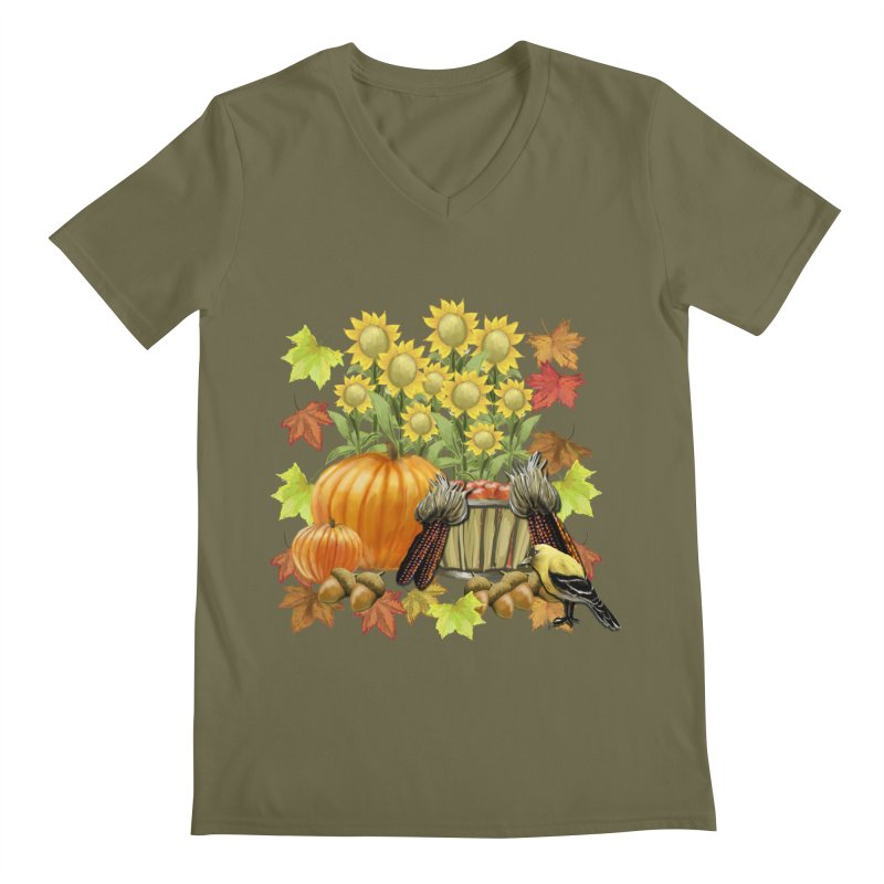 Harvest Men's Regular V-Neck by psweetsdesign's Artist Shop