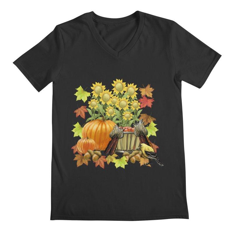 Harvest Men's Regular V-Neck by psweetsdesign's Artist Shop