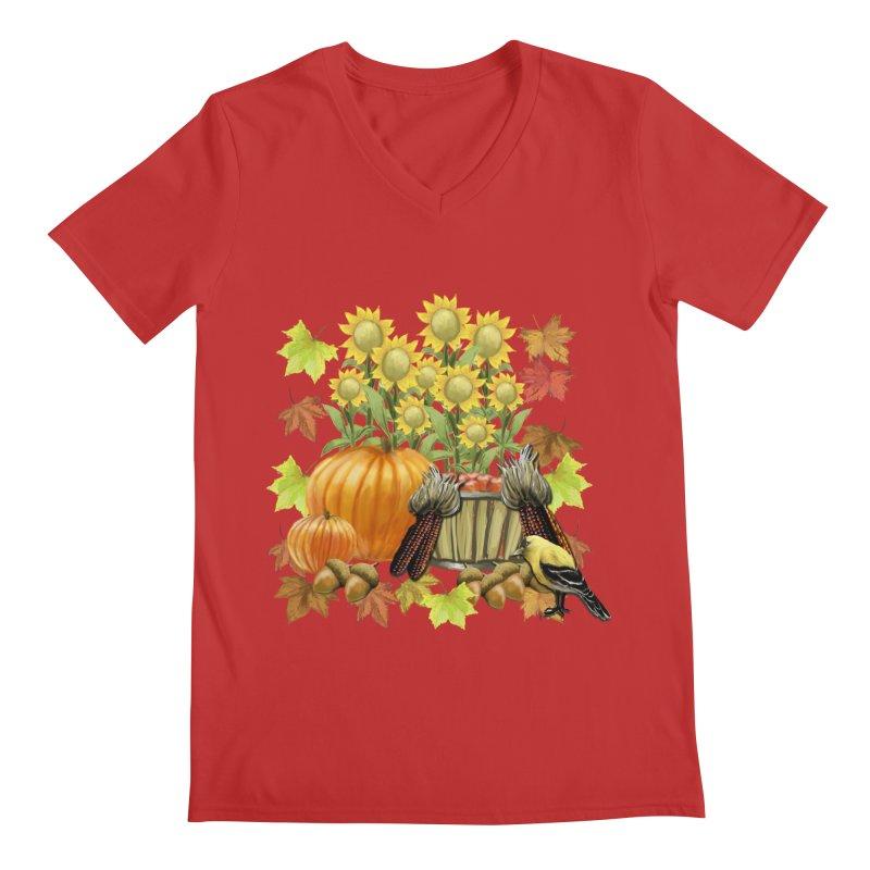 Harvest Men's V-Neck by psweetsdesign's Artist Shop