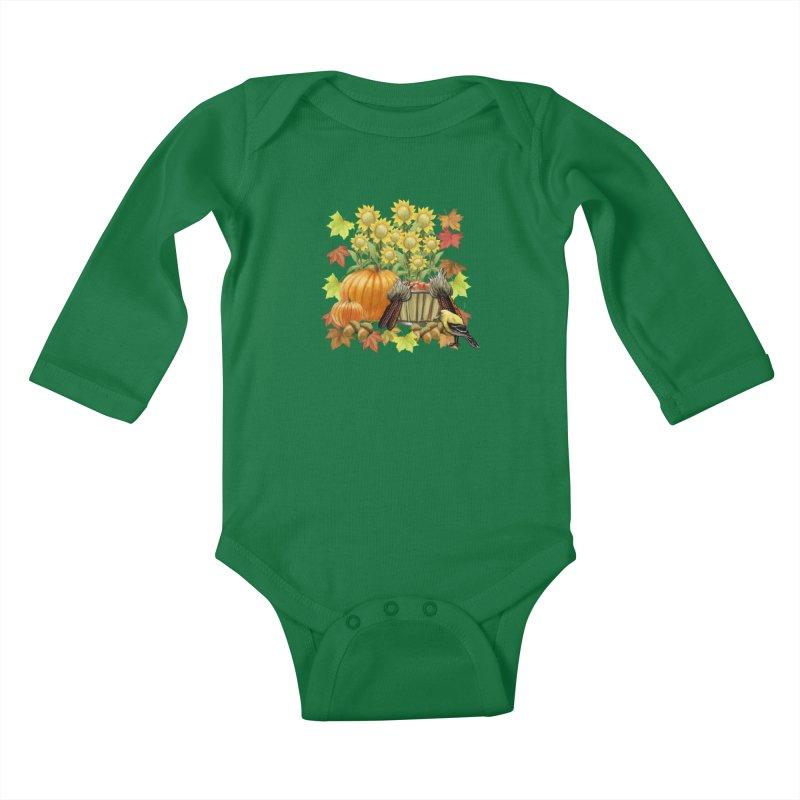 Harvest Kids Baby Longsleeve Bodysuit by psweetsdesign's Artist Shop