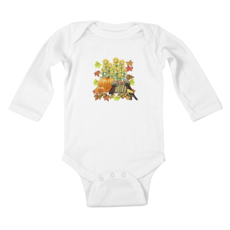 Harvest Kids Baby Longsleeve Bodysuit by psweetsdesign's Artist Shop