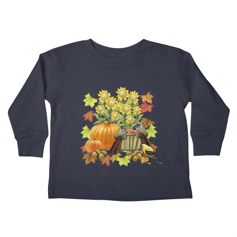 Harvest Kids Toddler Longsleeve T-Shirt by psweetsdesign's Artist Shop