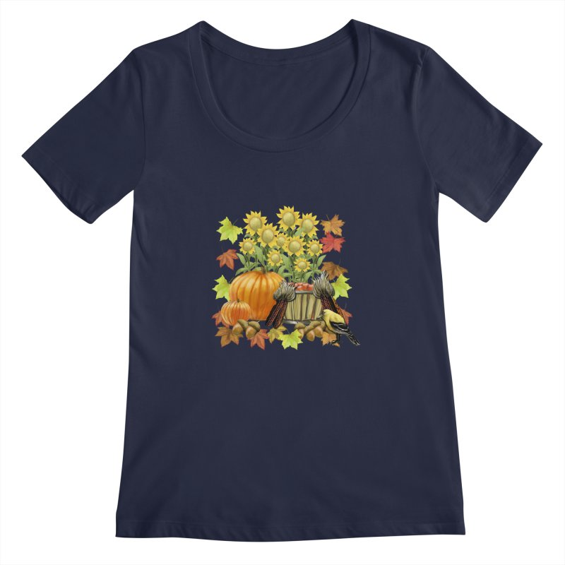 Harvest Women's Scoopneck by psweetsdesign's Artist Shop
