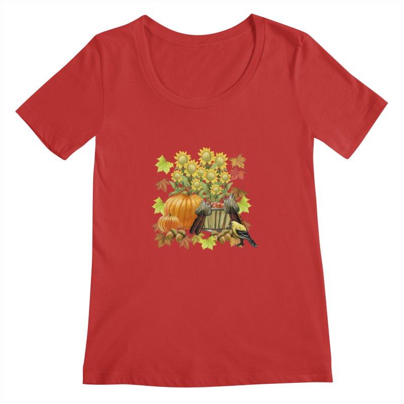 Harvest Women's Regular Scoop Neck by psweetsdesign's Artist Shop