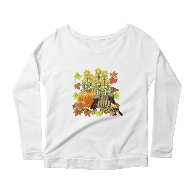 Harvest Women's Longsleeve Scoopneck  by psweetsdesign's Artist Shop