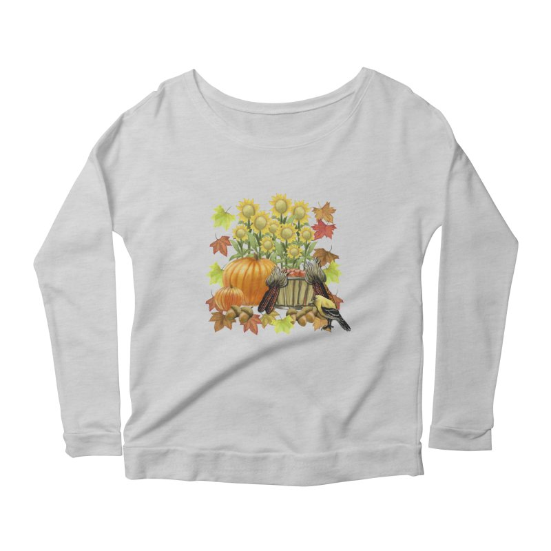 Harvest Women's Longsleeve Scoopneck  by psweetsdesign's Artist Shop