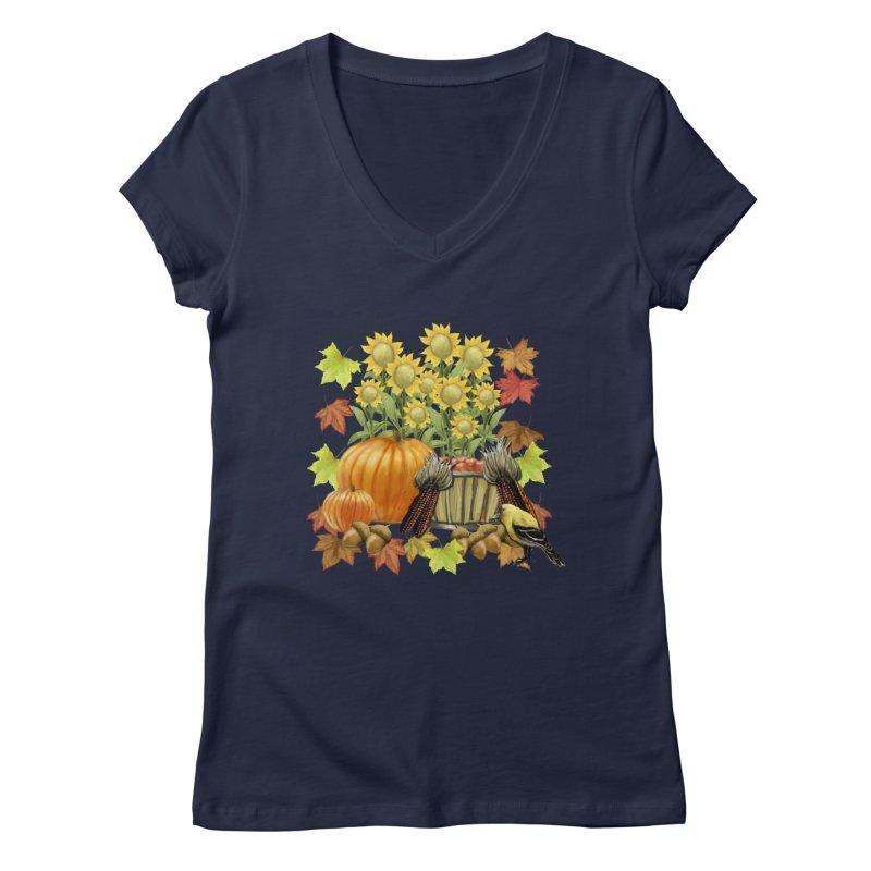 Harvest Women's Regular V-Neck by psweetsdesign's Artist Shop