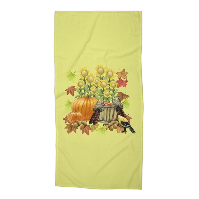 Harvest Accessories Beach Towel by psweetsdesign's Artist Shop