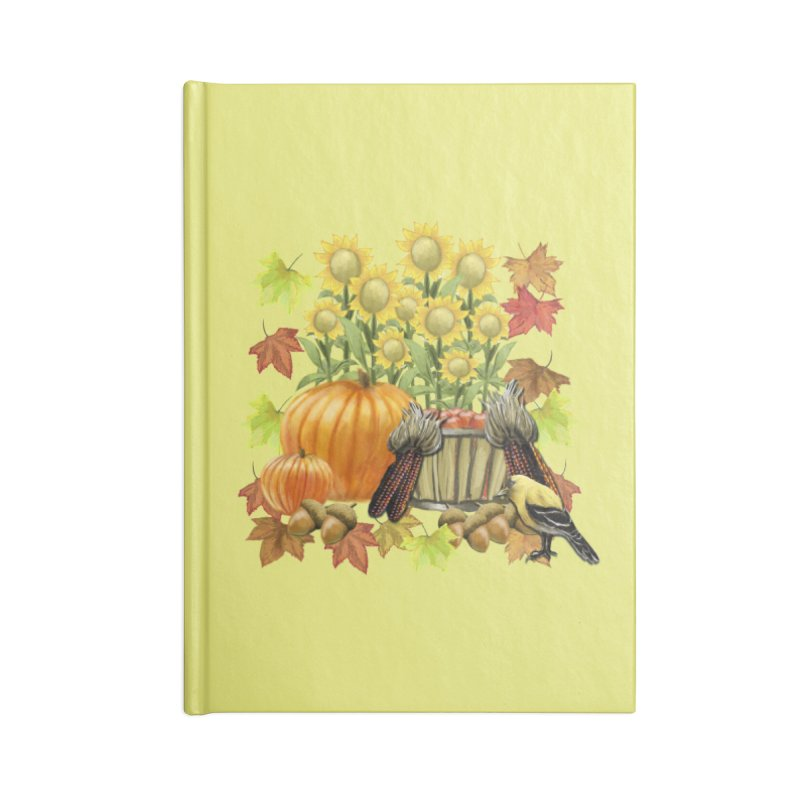 Harvest Accessories Blank Journal Notebook by psweetsdesign's Artist Shop