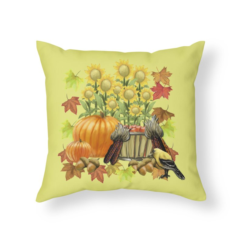 Harvest Home Throw Pillow by psweetsdesign's Artist Shop