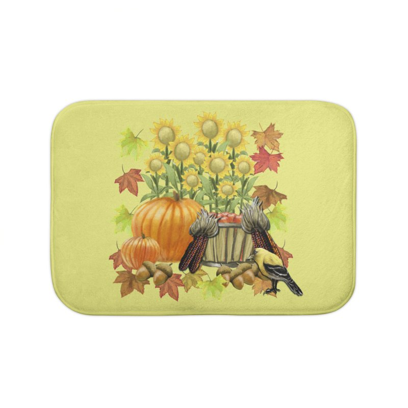 Harvest Home Bath Mat by psweetsdesign's Artist Shop