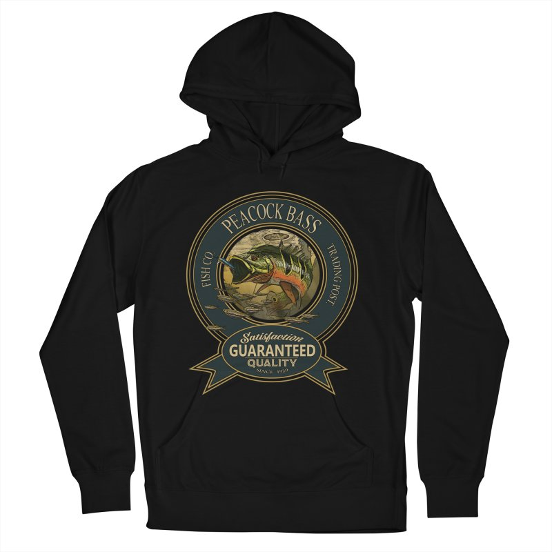 Peacock Bass Men's French Terry Pullover Hoody by psweetsdesign's Artist Shop