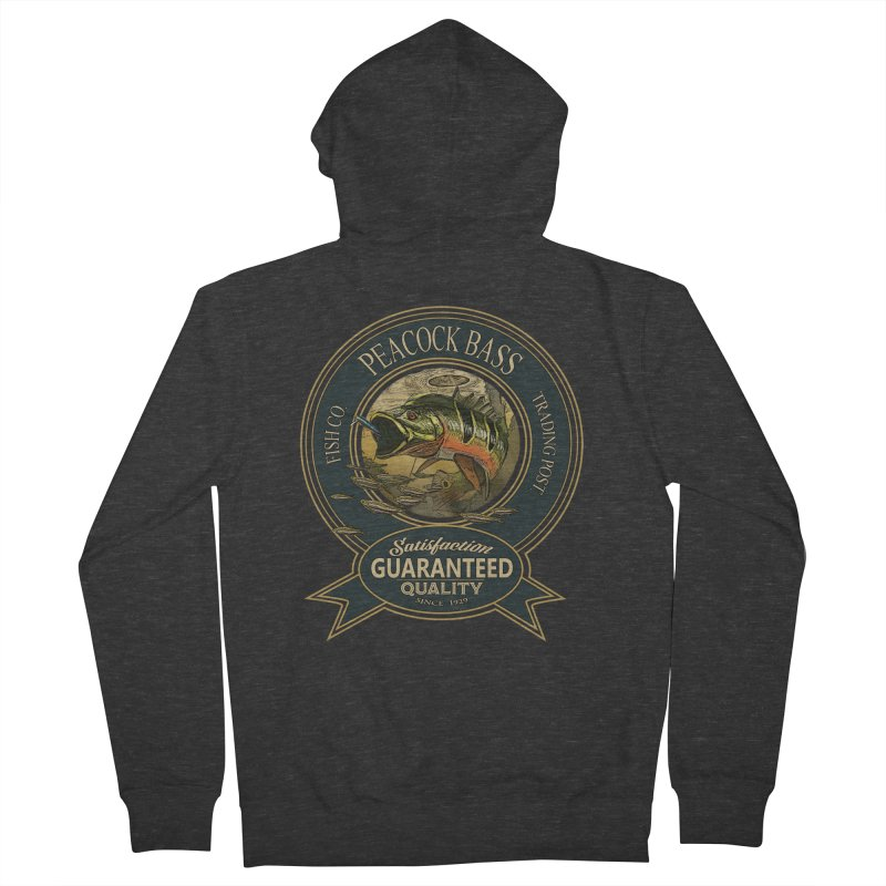 Peacock Bass Women's French Terry Zip-Up Hoody by psweetsdesign's Artist Shop