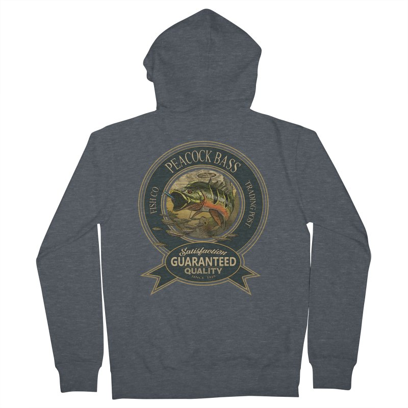 Peacock Bass Men's Zip-Up Hoody by psweetsdesign's Artist Shop